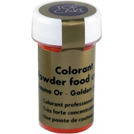 Colorant Alimentaire Poudre Jaune Or Top Cake