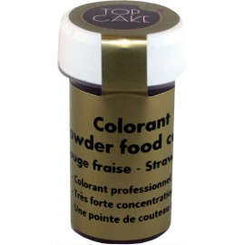 Colorant Alimentaire Poudre Rouge Fraise Top Cake